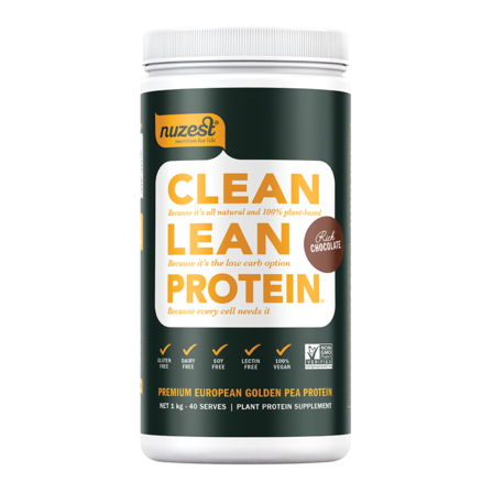 NUZEST Clean Lean Protein 1 KG Rich CHOCOLATE