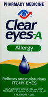 Clear Eyes-A Allergy Eye Drops 15ml - Pakuranga Pharmacy