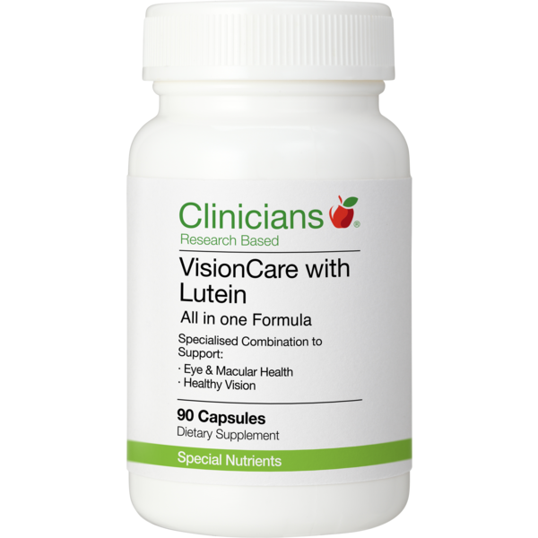 CLINICIANS VISIONCARE WITH LUTEIN 90 CAPSULES - Pakuranga Pharmacy