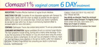 Clomazol 1% Vaginal Cream For Treatment Of Vaginal Thrush 35g - Pharmacist Only Medicine - Pakuranga Pharmacy