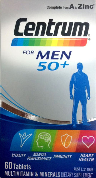 Centrum for Men 50+ 60 tablets - Pakuranga Pharmacy