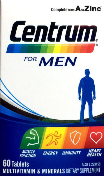 Centrum For Men 60 tablets - Pakuranga Pharmacy