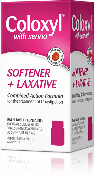 Coloxyl with Senna For Constipation - Stool Softener + Stimulant Laxative 90 Tablets - Pakuranga Pharmacy