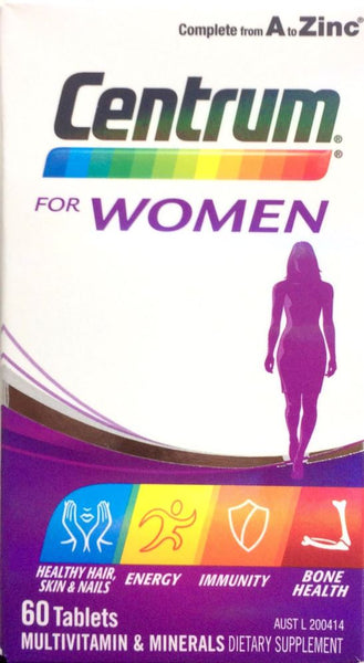 Centrum For Women 60 tablets - Pakuranga Pharmacy