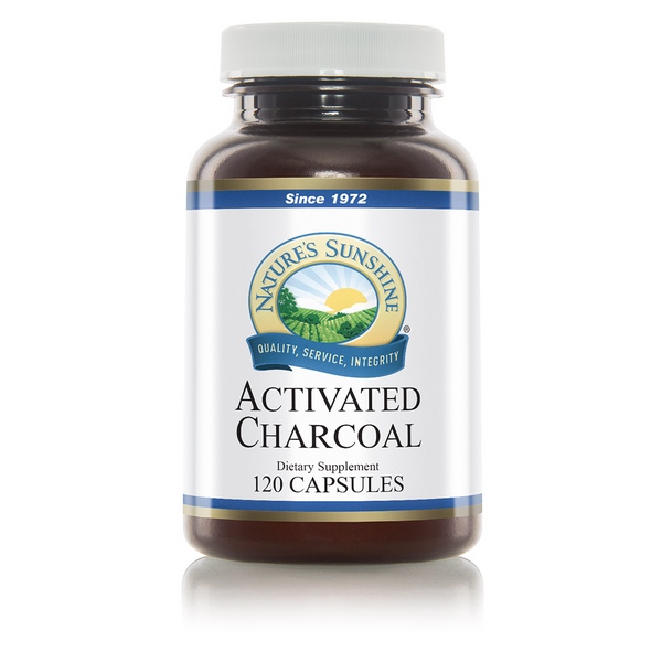 Nature's Sunshine Activated Charcoal 120 capsules