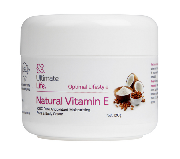 Ultimate Life Vitamin E cream 100g pot