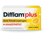 Difflam Plus Honey & Lemon 16 Lozenges - Pakuranga Pharmacy