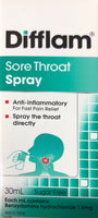 Difflam Sore throat Spray 30ml - Pakuranga Pharmacy