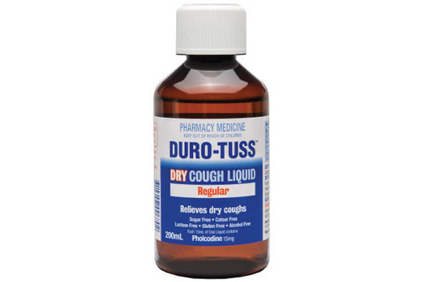 Duro Tuss Dry Cough Regular Liquid 200ml - Pakuranga Pharmacy