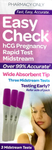 Easycheck Pregnancy Rapid Test midstream- 3 Midstream tests - Pakuranga Pharmacy