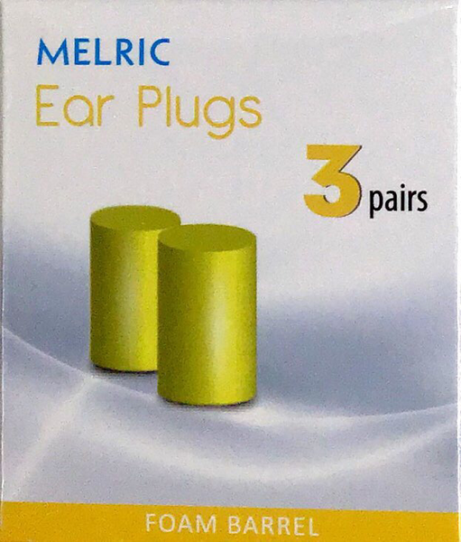 Melric Ear Plugs 3 Pairs - Foam Barrel