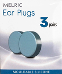 Melric Ear Plugs 3 pairs - Mouldable Silicone