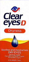 Clear eyes -D Dryness Soothes and moisturises Dry eyes Eye drops 15 ml - Pakuranga Pharmacy