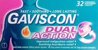 Gaviscon Dual Action 32 Chewable Peppermint Tablets - Pakuranga Pharmacy