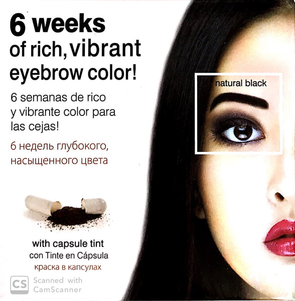 Godefroy Instant Eye Brow Tint Kit 6 Weeks Natural Black