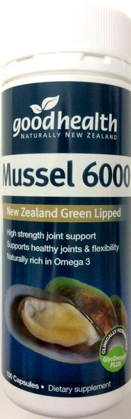 Good Health Green Lipped Mussel 6000 mg 100 Caps - Pakuranga Pharmacy