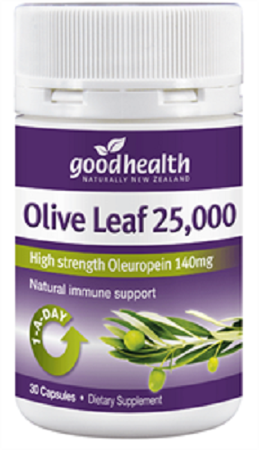 Good Health Olive Leaf 25,000 30 capsules - Pakuranga Pharmacy