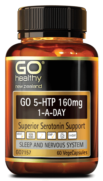 Go Healthy GO 5-HTP 160MG 1-A-Day 30 capsules - Pakuranga Pharmacy