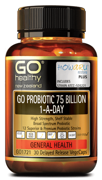 GO PROBIOTIC 75 BILLION 30 CAPSULES - Pakuranga Pharmacy