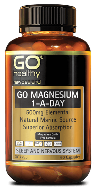 GO Magnesium 1-A-Day 500mg 60s Capsules