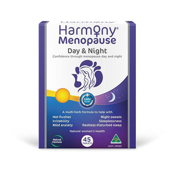 Harmony Menopause Day and Night 45 tablets - Pakuranga Pharmacy