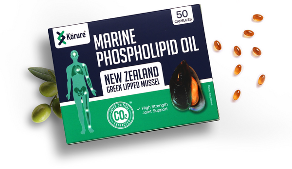 Kōrure Marine Phospholipid Oil NZ GreenLipped Mussel Joint Support