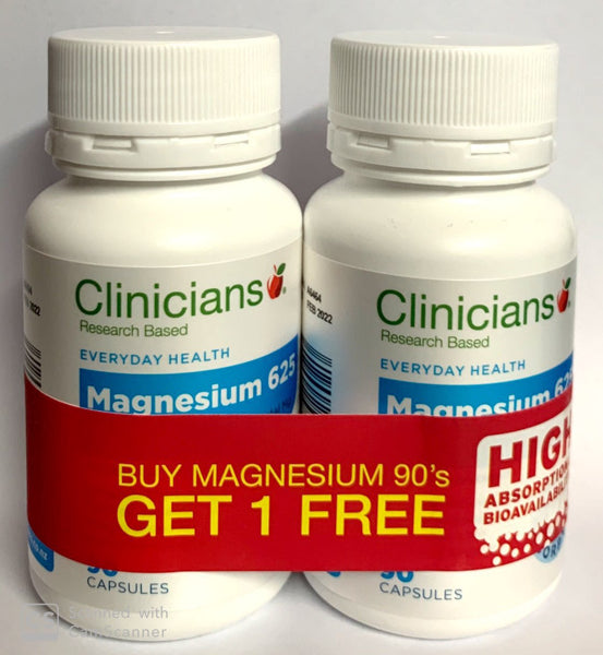 Clinicians Magnesium 625 (90+90)  Capsules-Buy One Get One Free - Pakuranga Pharmacy