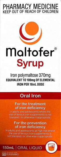 Maltofer Syrup 150 ml Iron Polymaltose for iron deficiency