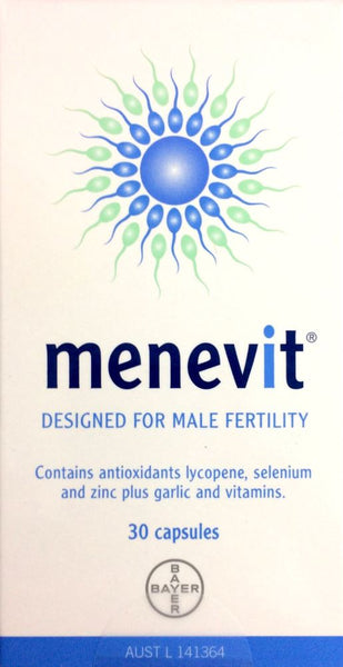 Menevit Male Fertility Supplement 30 capsules - Pakuranga Pharmacy