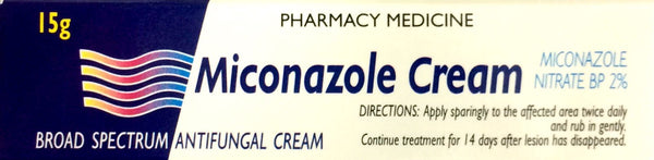 Miconazole Cream Miconazole Nitrate BP 2% 15g Pharmacy Medicine - Pakuranga Pharmacy