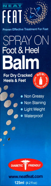 Neat Feat Foot and Heel Balm Spray For Dry Cracked Heels & Feet 125ml