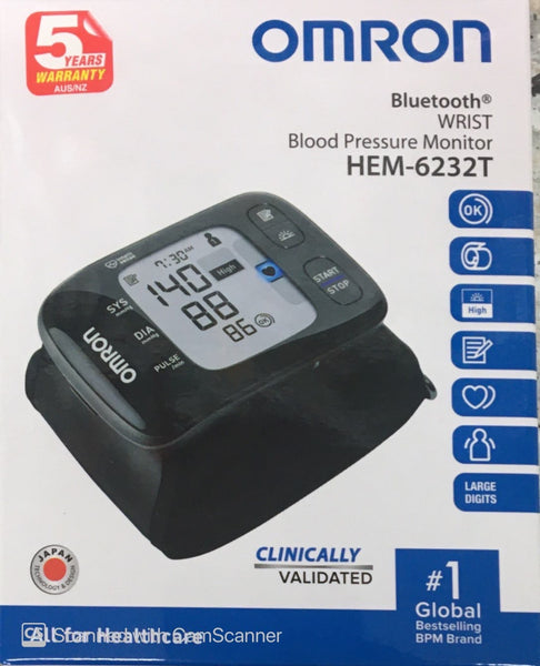 Omron Blood Pressure Blue tooth wrist Monitor HEM-6232T