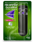 Nicorette QuickMist Mouth Spray 150 sprays Cool Berry