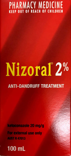 Nizoral 2% Anti-Dandruff Treatment 100ml (pharmacy medicine) - Pakuranga Pharmacy
