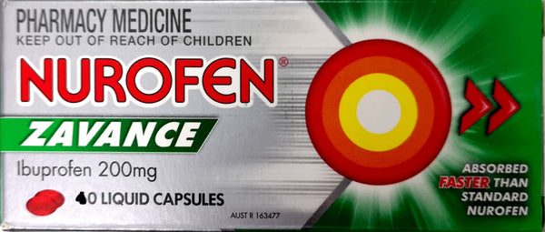 Nurofen Zavance 60 Liquid capsules QTY RESTRICTION (2) APPLIES
