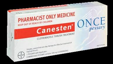 Canesten Once Pessary For Vaginal Thrush - Pharmacist Only Medicine - Pakuranga Pharmacy