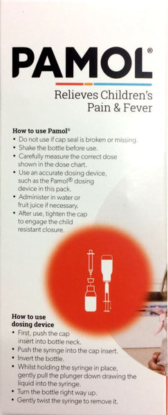 Pamol Strawberry 200ml Pharmacy Medicine Qty Restriction (1) applies