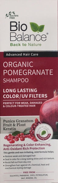 BioBalance Organic Pomegranate Shampoo 330ml - Pakuranga Pharmacy