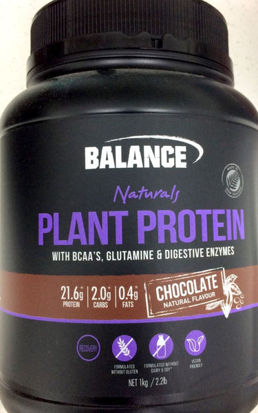 Balance Naturals Plant Protein 1kg Chocolate Flavour