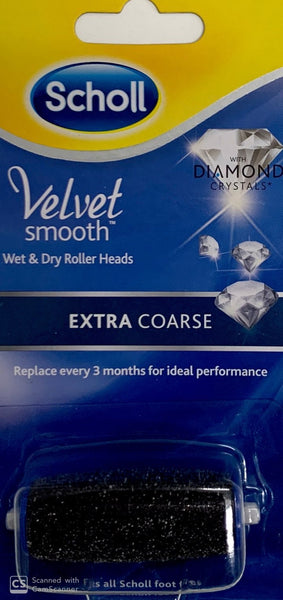 Scholl Velvet smooth wet & dry Roller Heads - Extra coarse