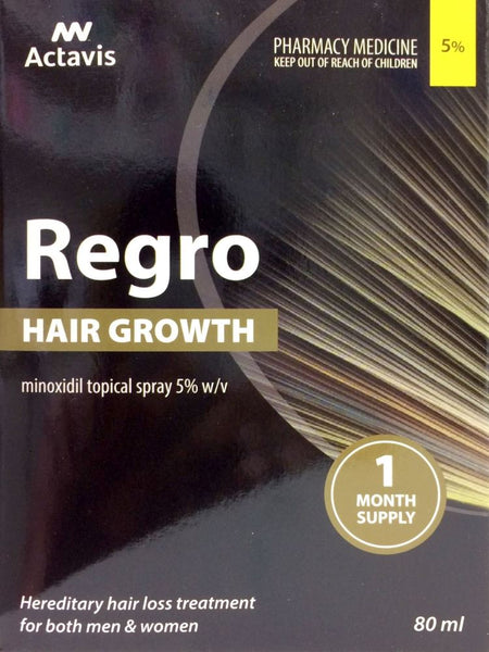 Regro Hair Growth Minoxidil 5% 80ml Triple Pack Pharmacy Medicine