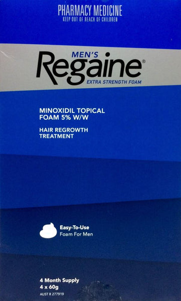 Regaine Men's Foam Minoxidil 5% 4 months Supply 4 * 60 g Pharmacy Medicine