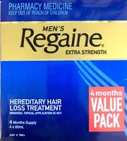 Regaine Men's Extra Strength Minoxidil 5% 4 months 4 * 60 ml Pharmacy Medicine Quantity Restriction (1) Applies