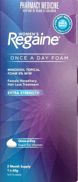 Regaine Foam for Women Hair Loss Treatment 2 Month Pack - Pharmacy Medicine