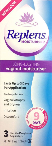 Replens Long Lasting Vaginal Mosituriser 3 Applicators
