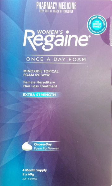 Regaine Foam for Women Hair Loss Treatment 4 Month Pack - Pharmacy Medicine