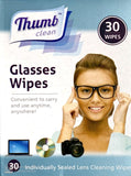 Thumb Clean Glasses Wipes 30 Individually Sealed Lens Cleaning Wipes (24 Pack)