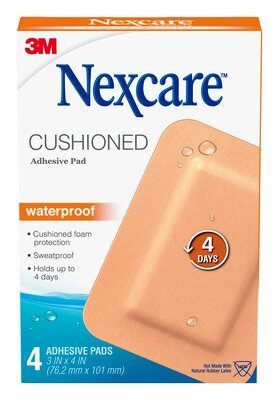 Nexcare™ Cushioned Waterproof Adhesive Pad 4PK