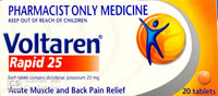 Voltaren Rapid 25 - Diclofenac Potassium 25mg 20 Tablets - Pharmacist Only Medicine