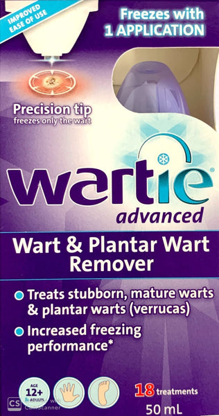 Wartie Advanced Wart & Plantar Wart Remover 50ml